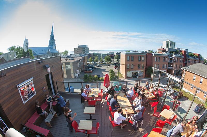 Terrasse au centre-ville